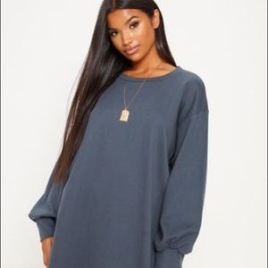Prettylittlething charcoal oversized sweater